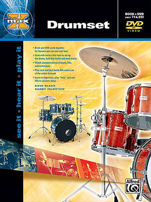 Alfred's MAX Instructional Book/DVD series for Drums