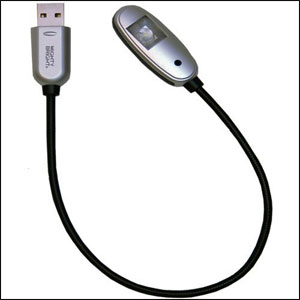 Mighty Bright LED USB Light (Silver)