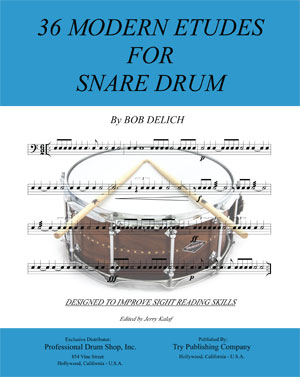 36 Modern Etudes For Snare Drum