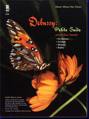 DEBUSSY Petite Suite (Four Pieces for piano duet 1P/4H) (minus Piano)
