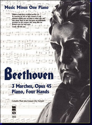 BEETHOVEN Three Marches for piano duet (1P/4H) (minus Piano)