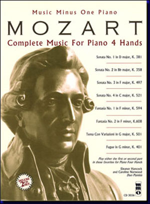 MOZART Complete Music for Piano 4 Hands (Digitally remastered 2 CD Set) for piano duet 1P/4H (minus
