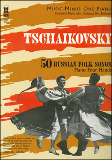 TCHAIKOVSKY Fifty Russian Folk Songs for piano duet 1P/4H (minus Piano)
