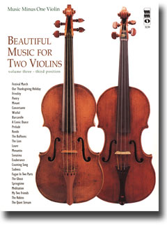 Beautiful Music for Two Violins -  vol. III: 3rd position (minus Violin)