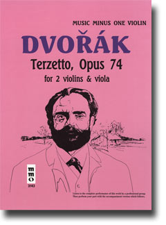 DVORAK String Trio 'Terzetto' in C major -  op. 74 -  B148 (2 violins & viola) (minus Violin)
