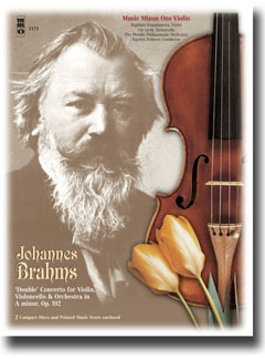 BRAHMS Double Concerto for Violin & Violoncello in A minor -  op. 102 (3 CD set) (minus Violin)