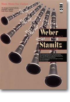 WEBER Concerto No. 1 in F minor -  op. 73; STAMITZ Concerto No. 3 in B-flat (minus Clarinet)