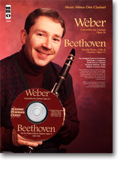 WEBER Concertino -  op. 26 -  J109; BEETHOVEN Piano Trio No. 4 -  'Street Song - ' op. 11 (minus Cla