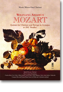MOZART Quintet in A -  KV581 (2 CD Set) (minus Clarinet)