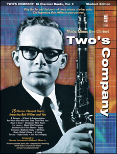Two's Company: 16 Clarinet Duets w/Rhythm Section (Bob Wilber)