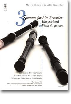 TELEMANN & HANDEL - Three Sonatas for Alto Recorder -  Harpsichord & Viola da gamba (minus Recorder)