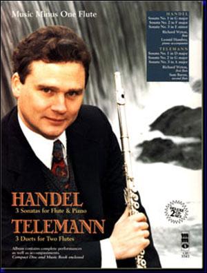 HANDEL Three Sonatas for Flute & Piano; TELEMANN Three Duet Sonatas for Two Flutes (2 CD Set) (minus