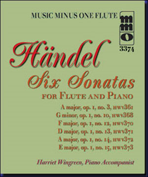 HÄNDEL Six Sonatas for Flute and Piano: No. 1 in A major/No. 2 in G minor/No. 3 in F major/No. 4 in