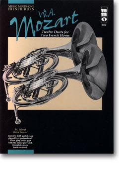 MOZART Twelve Pieces for Two Horns -  KV487 (minus French Horn)