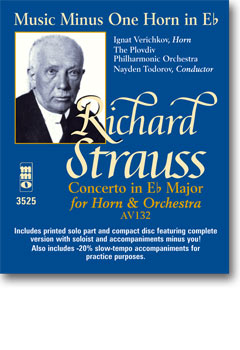 RICHARD STRAUSS Horn Concerto No. 2 in E-flat major -  AV132 (minus French Horn)