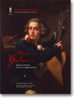 GIULIANI Guitar Concerto No. 1 in A major -  op. 30 (2 CD set) (minus Guitar)