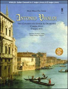 VIVALDI Two Concerti for Guitar (Lute) & Orchestra: C major -  RV425 (F. V/1); D major -  RV93 (F. X