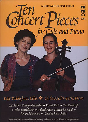 Ten Concert Pieces for Violoncello and Piano (minus Violoncello)