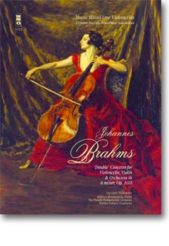 BRAHMS Double Concerto for Violoncello & Violin in A minor -  op. 102 (3 CD set) (minus Violoncello)