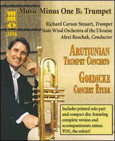 ARUTIUNIAN Concerto for Trumpet/Cornet & Concert Band; GOEDICKE Concert Etude (minus Trumpet)