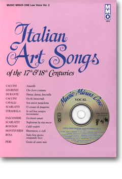 17th/18th Century Italian Songs - Low Voice -  vol. II (minus Vocal Bass-Baritone)