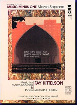 Advanced Mezzo Soprano Solos (Fay Kittelson) (minus Vocal Mezzo-Soprano)