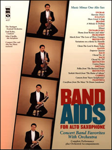 Band Aids for Alto Sax: Concert Band Favorites with Orchestra (minus Alto Saxophone)