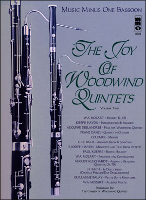 Woodwind Quintets -  vol. II: The Joy of Woodwind Quintets (minus Bassoon)