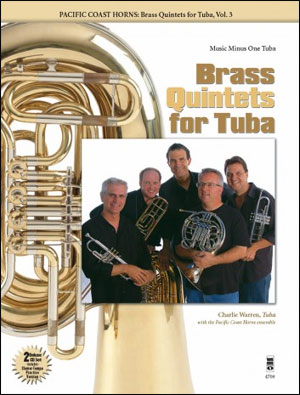 PCH Pacific Coast Horns -  vol. 3: Brass Quintets for Tuba (Intermediate-Advanced) (minus Tuba)