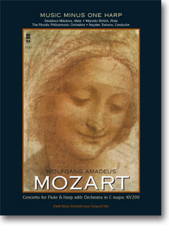 MOZART Concerto for Flute & Harp in C major -  KV299 (3 CD set) (minus Harp)