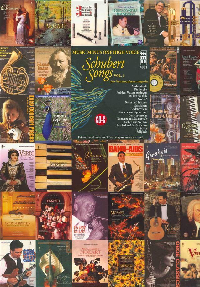 SCHUBERT German Lieder - High Voice -  vol. I (minus Vocal Soprano)