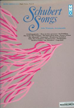 SCHUBERT German Lieder - High Voice -  vol. II (minus Vocal Soprano)