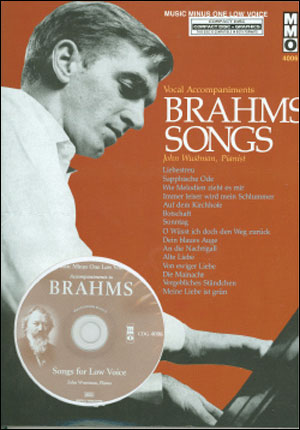 BRAHMS German Lieder - Low Voice (Digitally Remastered) (minus Vocal Bass-Baritone)