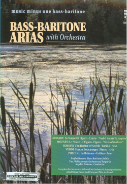 Bass-Baritone Arias with Orchestra -  vol. I (minus Vocal Bass-Baritone)