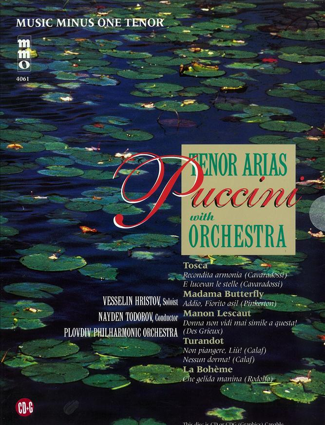 PUCCINI Arias for Tenor and Orchestra -  vol. I (minus Vocal Tenor)