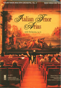 Italian Tenor Arias with Orchestra -  vol. II (minus Vocal Tenor)