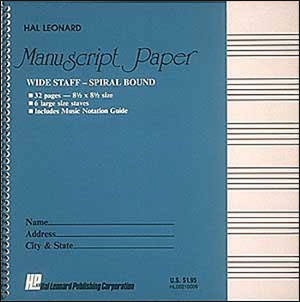 Wide Staff Wirebound Manuscript Paper