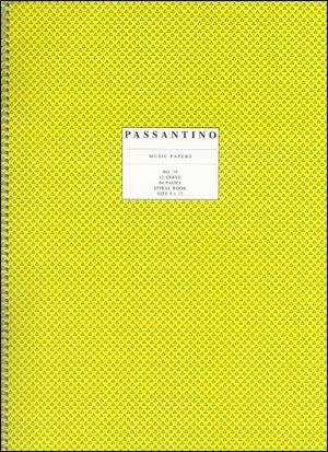 Spiral Book Of Standard Manuscript Paper