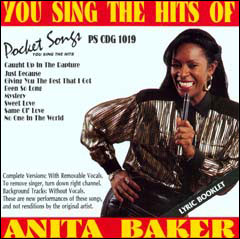 You Sing The Hits of Anita Baker - CD