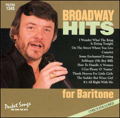 Broadway Hits for Baritone - CD
