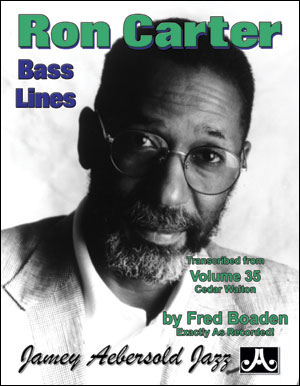 Ron Carter Bass Lines Transcribed From Volume 35 - Cedar Walton