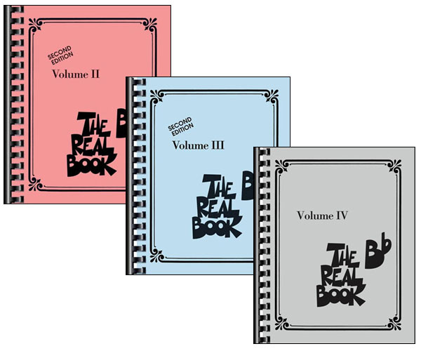 THE REAL BOOK VOLUMES 2, 3, and 4 - B Flat Edition