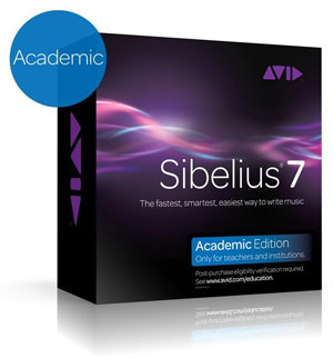 Sibelius 7 - Academic Edition (for teachers)