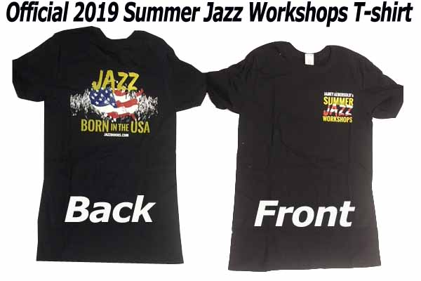 2019 JAZZ WORKSHOP T-SHIRT: XX LARGE