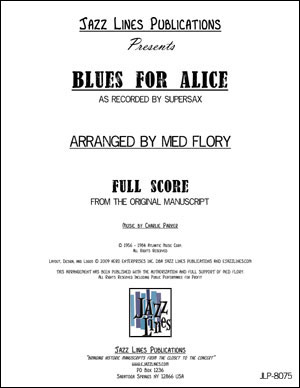 Supersax Arrangement - Blues For Alice