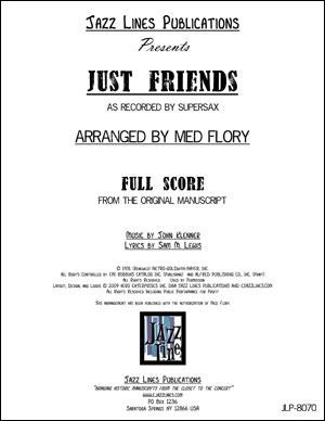 Supersax Arrangement - Just Friends