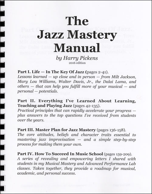The Jazz Mastery Manual