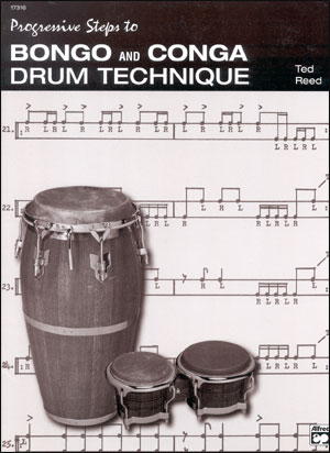 Progressive Steps to Bongo And Conga Drum Technique - By Ted Reed