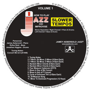Vol.1 CD SLOWER TEMPOS