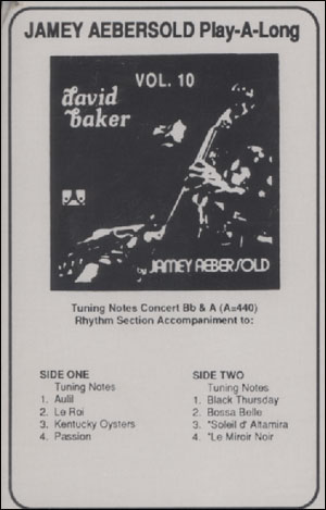 Volume 10 - David Baker - CASSETTE ONLY
